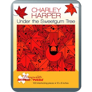 """Pomegranate (AA762) - Charley Harper: """"Under the Sweetgum Tree"""" - 100 pièces"""
