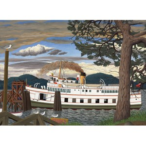 """Cobble Hill (51016) - EJ Hughes: """"The Car Ferry at Sidney BC"""" - 1000 pièces"""