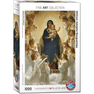 """Eurographics (6000-7064) - William-Adolphe Bouguereau: """"Vierge avec Anges"""" - 1000 pièces"""