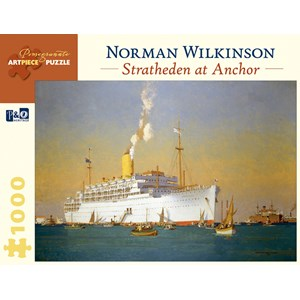 "Pomegranate (AA842) - Norman Wilkinson: ""Stratheden At Anchor"" - 1000 pièces"