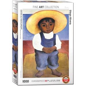 "Eurographics (6000-0799) - Diego Rivera: ""Portrait d'Ignacio Sanchez"" - 1000 pièces"