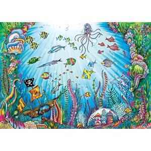 "Buffalo Games (3845) - Johanna Basford: ""Beneath the Waves"" - 500 pièces"