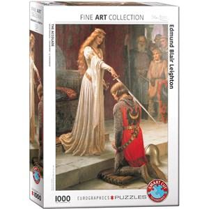 "Eurographics (6000-0038) - Edmund Blair Leighton: ""L'adoubement"" - 1000 pièces"