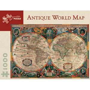 "Pomegranate (AA603) - Henricus Hondius: ""Antique World Map, 1630"" - 1000 pièces"