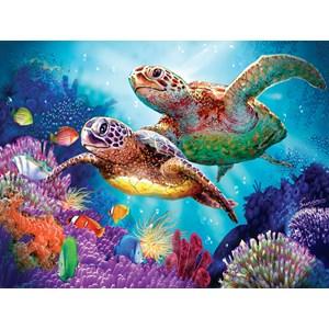 """SunsOut (70930) - Steve Sundram: """"Turtle Guardian"""" - 1000 pièces"""