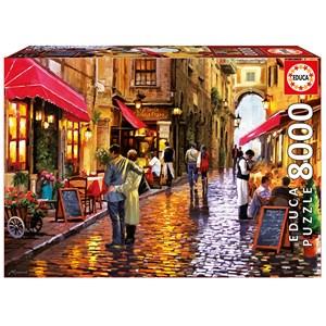 "Educa (16788) - ""Café Street"" - 8000 pièces"