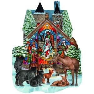 """SunsOut (96055) - Parker Fulton: """"Forest Nativity"""" - 1000 pièces"""
