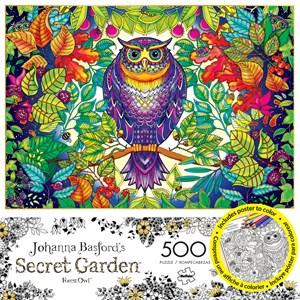 """Buffalo Games (3842) - Johanna Basford: """"Forest Owl"""" - 500 pièces"""