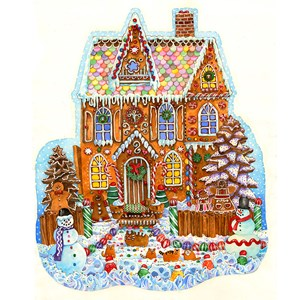 """SunsOut (97179) - Wendy Edelson: """"Gingerbread House"""" - 1000 pièces"""