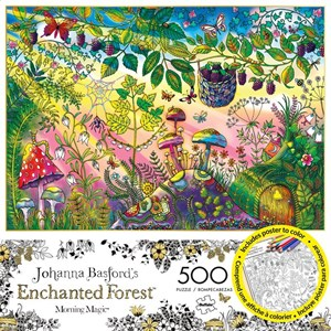 "Buffalo Games (3846) - Johanna Basford: ""Morning Magic (Enchanted Forest)"" - 500 pièces"