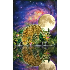 """SunsOut (80115) - John Enright: """"Leopard Moon"""" - 550 pièces"""