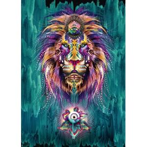 """Schmidt Spiele (59325) - Chris Saunders: """"Luminescent Lion"""" - 1000 pièces"""