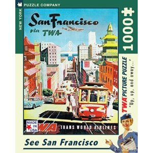 "New York Puzzle Co (AA701) - David Klein: ""See San Francisco, TWA Travel Posters"" - 1000 pièces"