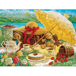 "Cobble Hill (52089) - Janet Kruskamp: ""Teddy Bear Picnic"" - 500 pièces"