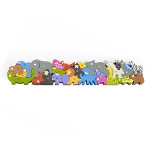 "Begin Again (I1305) - ""Jumbo Animal Parade A-Z Puzzle"" - 26 pièces"