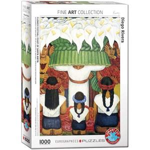 "Eurographics (6000-0798) - Diego Rivera: ""Flower Festival, Feast of Santa Anita"" - 1000 pièces"