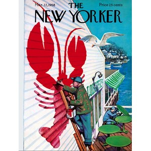 """New York Puzzle Co (NY168) - """"Seaside Cafe'"""" - 500 pièces"""