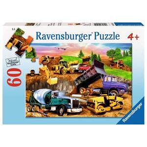 """Ravensburger (09525) - Michael Searle: """"Chantier de construction"""" - 60 pièces"""