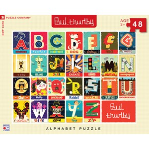 "New York Puzzle Co (PT1303) - Paul Thurby: ""Alphabet"" - 48 pièces"