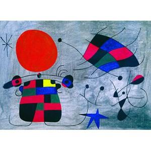 """Eurographics (6000-0856) - Joan Miro: """"Le Sourire aux Ailes Flamboyantes"""" - 1000 pièces"""