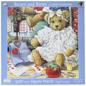 "SunsOut (76120) - Janet Kruskamp: ""Bears and Bows"" - 500 pièces"