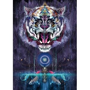 """Schmidt Spiele (59323) - Chris Saunders: """"Snarling Tiger"""" - 1000 pièces"""