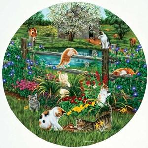 "SunsOut (45876) - Higgins Bond: ""Cats at Play"" - 500 pièces"