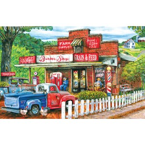 """SunsOut (28630) - Tom Wood: """"Saturday Morning at the Shop"""" - 1000 pièces"""