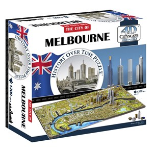 """4D Cityscape (40060) - """"Melbourne, Australia"""" - 1200 pièces"""