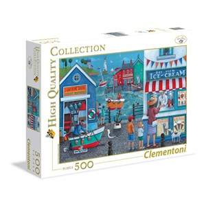 """Clementoni (35009) - Peter Adderley: """"Ice Cream on the Seaside"""" - 500 pièces"""