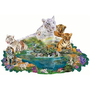 "SunsOut (96108) - Alixandra Mullins: ""Tigers at the Pool"" - 1000 pièces"