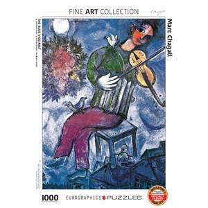 """Eurographics (6000-0852) - Marc Chagall: """"Le Violoniste Bleu"""" - 1000 pièces"""