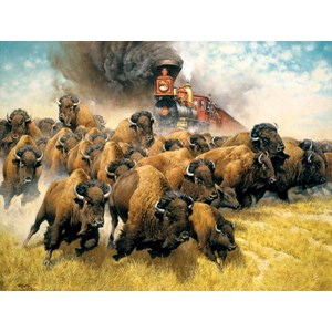 """SunsOut (44237) - Frank McCarthy: """"The Coming of the Iron Horse"""" - 500 pièces"""