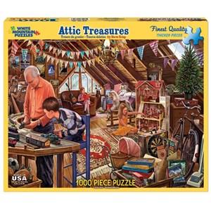 """White Mountain (1123PZ) - Steve Crisp: """"Attic Treasures"""" - 1000 pièces"""