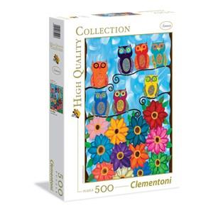 "Clementoni (35024) - Kerri Ambrosino: ""Hiboux"" - 500 pièces"