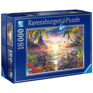 "Ravensburger (17824) - David Penfound: ""Paradis au Soleil Couchant"" - 18000 pièces"