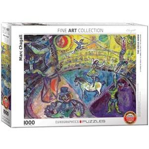 "Eurographics (6000-0851) - Marc Chagall: ""Le Cheval de Cirque"" - 1000 pièces"