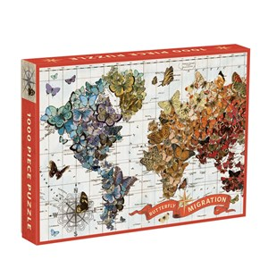 """Chronicle Books / Galison - Wendy Gold: """"Butterfly Migration"""" - 1000 pièces"""