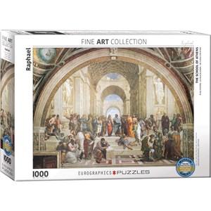 """Eurographics (6000-4141) - Raphael: """"L'école d'Athènes"""" - 1000 pièces"""