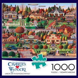 "Buffalo Games (11437) - Charles Wysocki: ""Labor Day in Bungalowville"" - 1000 pièces"