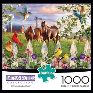 "Buffalo Games (11166) - Hautman Brothers: ""Evening Meadow"" - 1000 pièces"