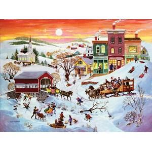"""SunsOut (14070) - Bob Pettes: """"Winter Wonderland"""" - 1000 pièces"""