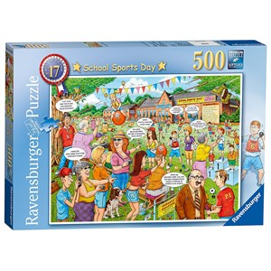 "Ravensburger (14749) - Geoffrey Tristram: ""School Sports Day"" - 500 pièces"