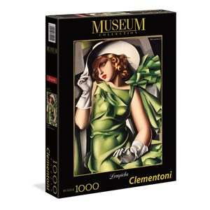 """Clementoni (39332) - Tamara de Lempicka: """"Jeune Fille en Vert"""" - 1000 pièces"""