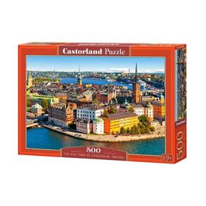 """Castorland (B-52790) - """"Vieille Ville de Stockholm, Suède"""" - 500 pièces"""