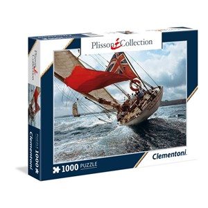 """Clementoni (39389) - Philip Plisson: """"J-Class Yacht Velsheda"""" - 1000 pièces"""
