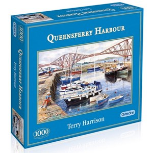 """Gibsons (G6089) - Terry Harrison: """"Queensferry Fishing Harbour"""" - 1000 pièces"""