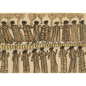 "Grafika (00265) - William Barak: ""Figures in Possum Skin Cloaks, 1898"" - 1000 pièces"