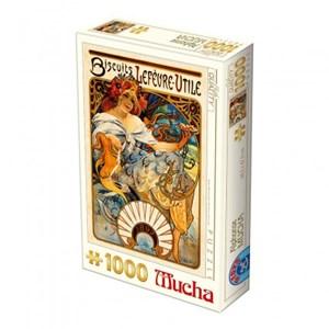 "D-Toys (66930-MU04) - Alphonse Mucha: ""Biscuits Lefèvre-Utile"" - 1000 pièces"