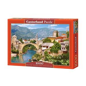 "Castorland (C-102495) - ""Mostar, Bosnie Herzégovine"" - 1000 pièces"